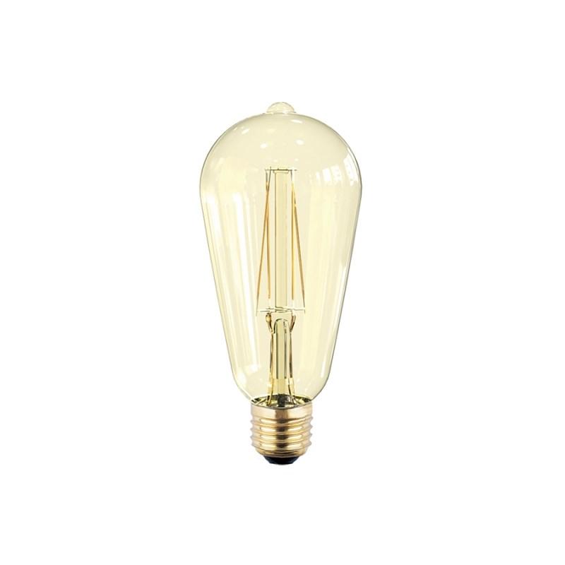 Лампа светодиодная LED-ST64-PRM 6W 230В Е27 3000К 540Lm золотистая ASD