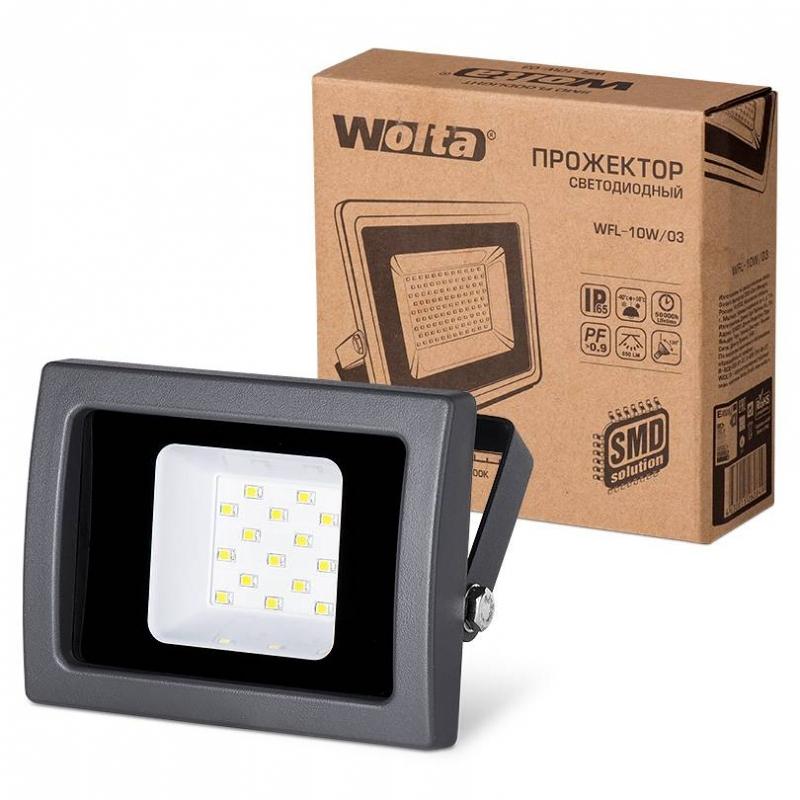 Прожектор светодиодный WFL-10W/03 10Вт 230В 5500К 850Лм IP65