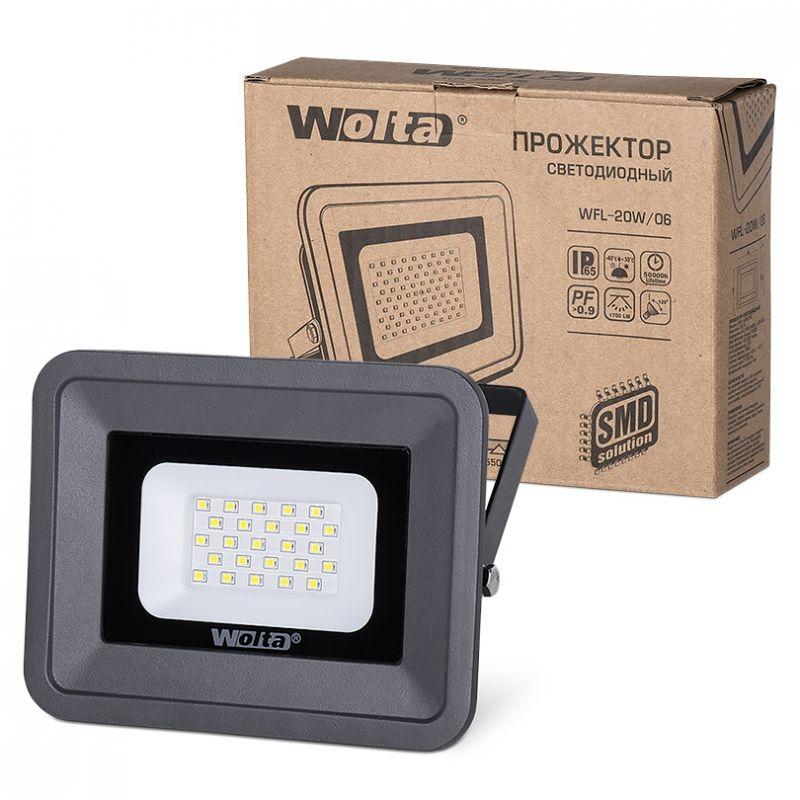 Прожектор светодиодный WFL-20W/06 20Вт 230В 5500К 1700Лм IP65