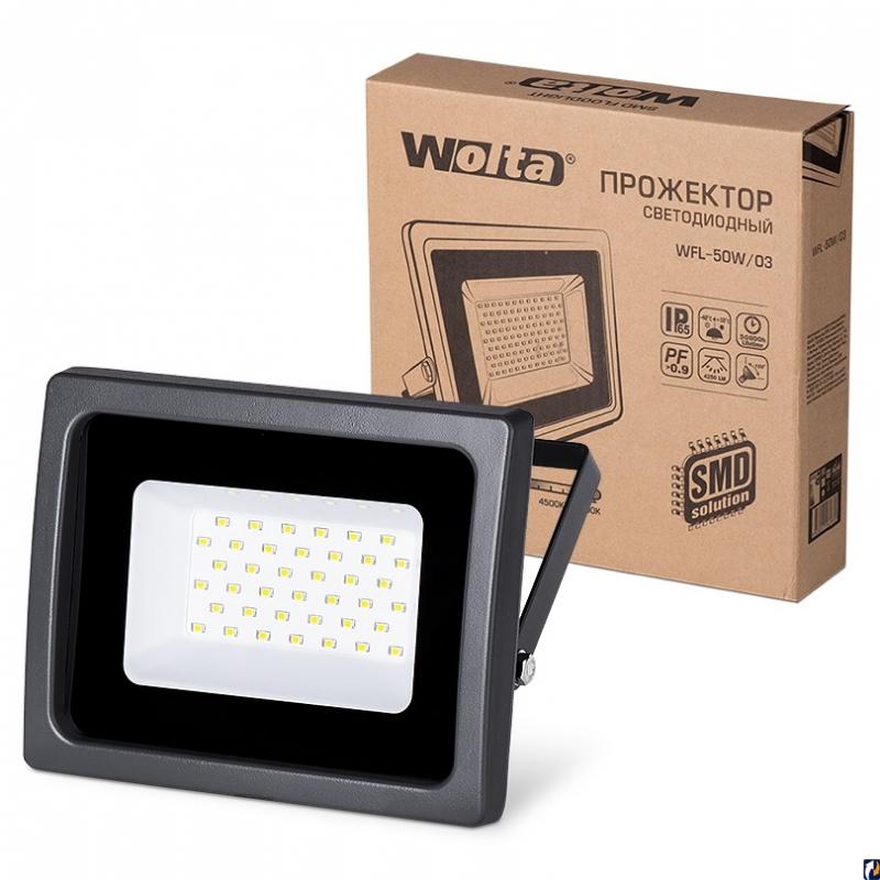Прожектор светодиодный WFL-50W/03 50Вт 230В 5500К 4250Лм IP65