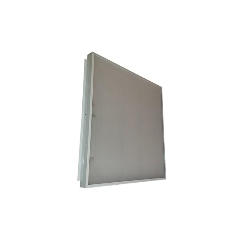 Офисный светодиодный светильник Грильято STELLAR 35 W встраиваемый/накладной 4200 Lm 5000K 588x588x40 mm Опаловый