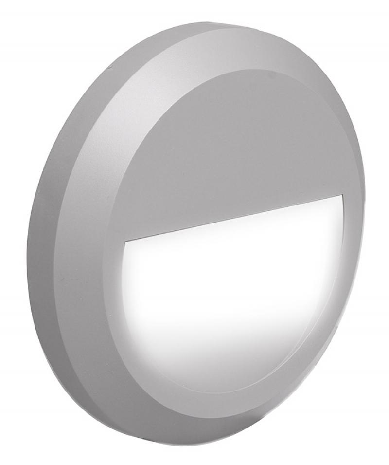 Светильник светодиодный фасадный IPST/W R150 2w 4000K серый P65 Jazzway .5005600