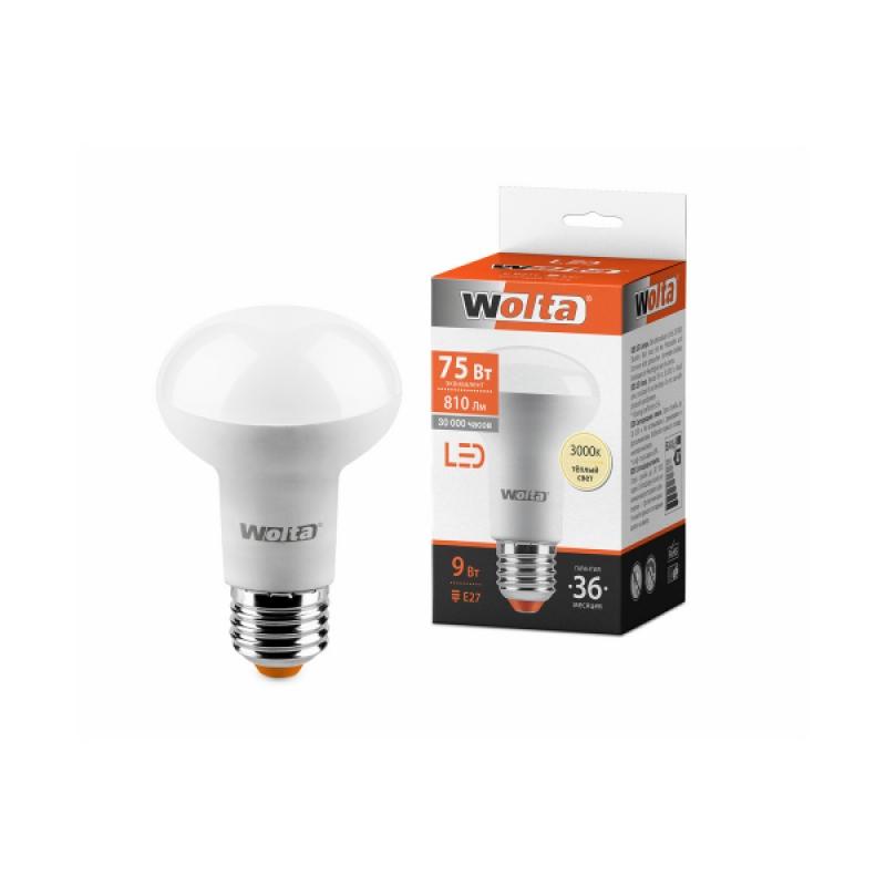 Лампа светодиодная 25Y63R9E27 9W 230В Е27 3000К 810Lm Wolta