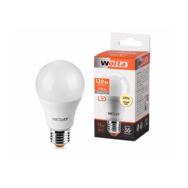 Лампа светодиодная 25Y60BL15E27 15W 230В Е27 3000К 1500Lm Wolta