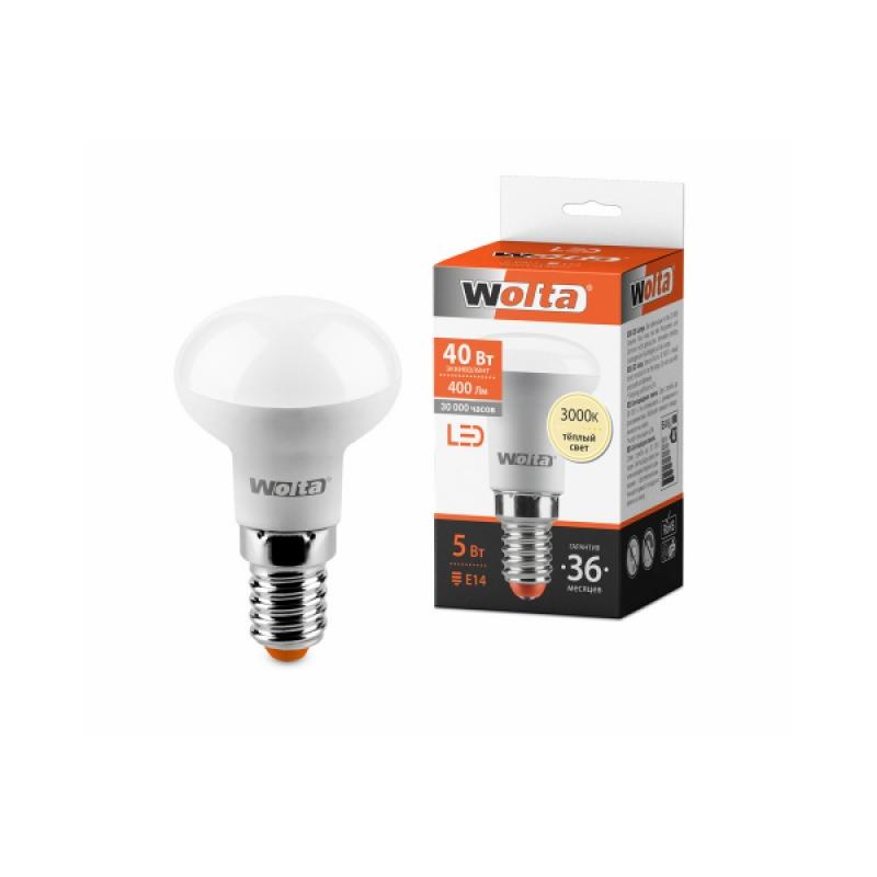 Лампа светодиодная 25Y39R5E14 5W 230В Е14 3000К 400Lm Wolta