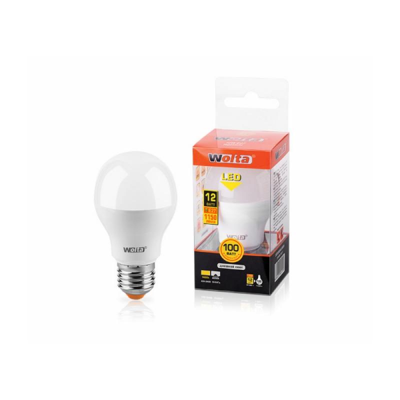 Лампа светодиодная 25S60BL12E27 12W 230В Е27 4000К 1150Lm Wolta