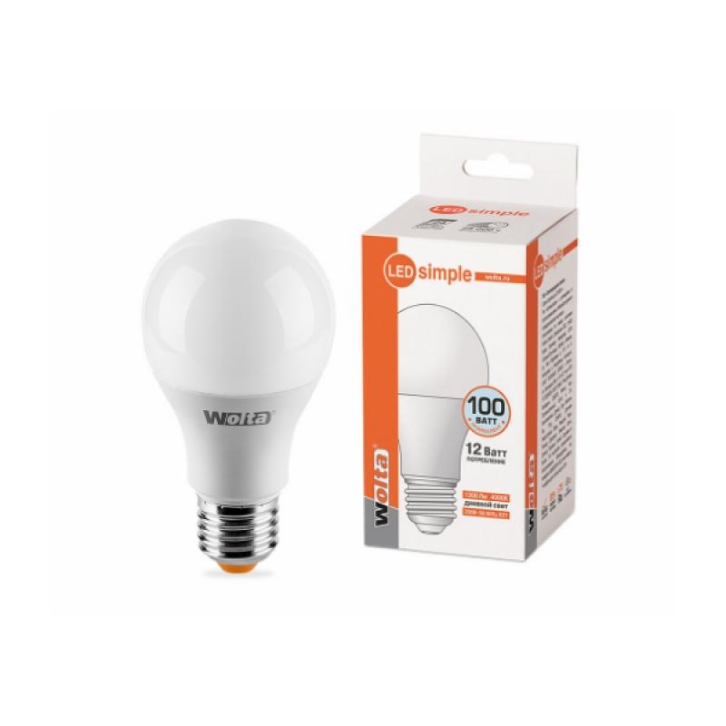 Лампа светодиодная 25S60BL12E27-S 12W 230В Е27 4000К 1200Lm Wolta