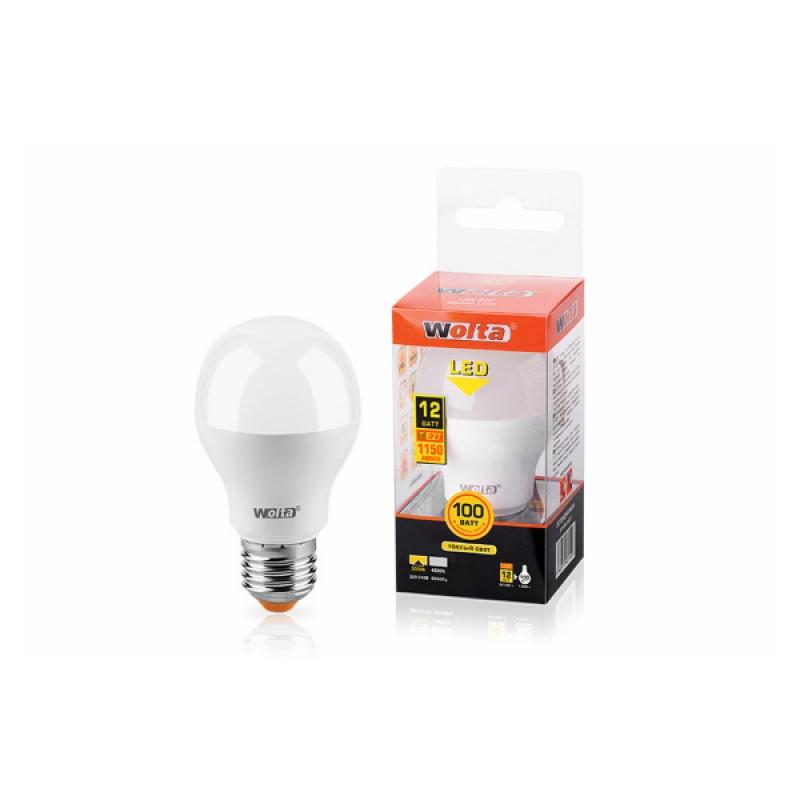 Лампа светодиодная 25Y60BL12E27 12W 230В Е27 3000К 1150Lm Wolta