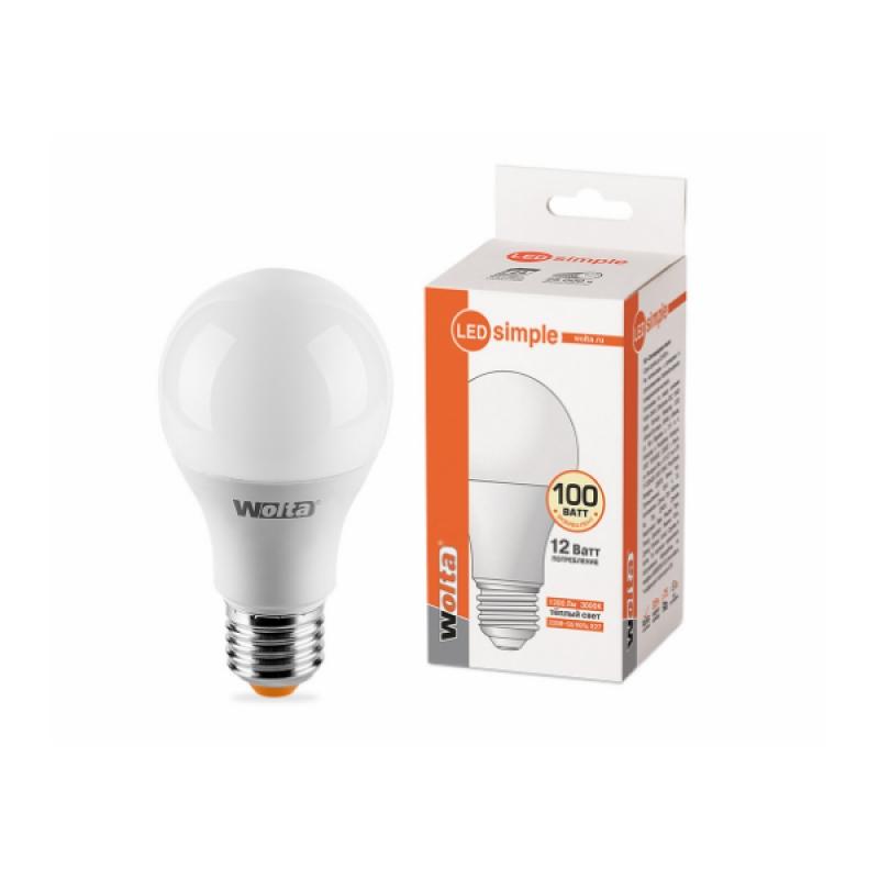 Лампа светодиодная 25Y60BL12E27-S 12W 230В Е27 3000К 1200Lm Wolta