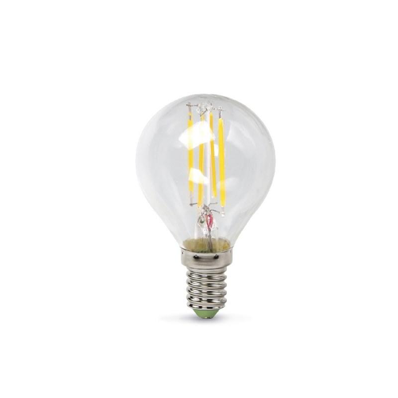 Шарообразная лампа светодиодная LED-ШАР-PREMIUM 5W 230В Е14 4000К 450Lm прозрачная ASD
