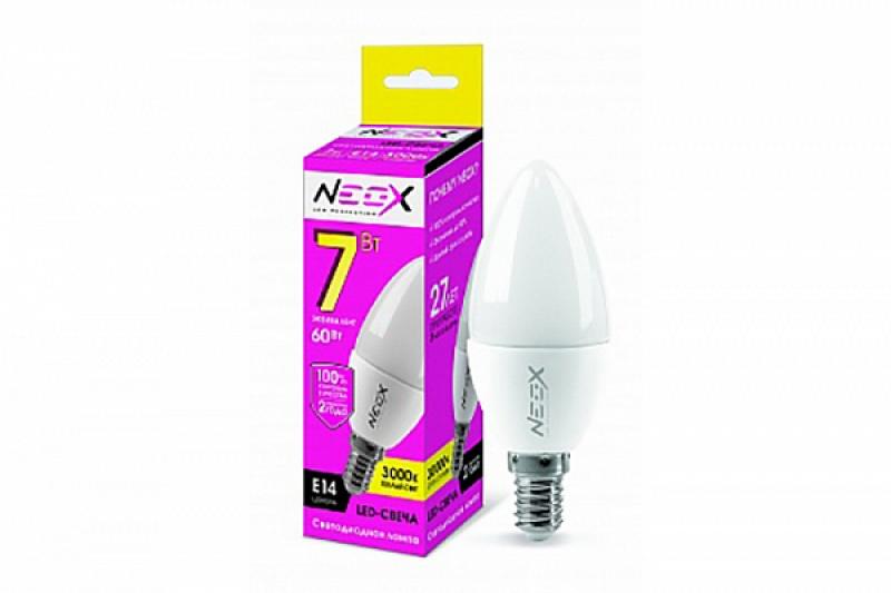 Лампа светодиодная LED-СВЕЧА 7Вт 230В Е14 3000К 560Лм NEOX