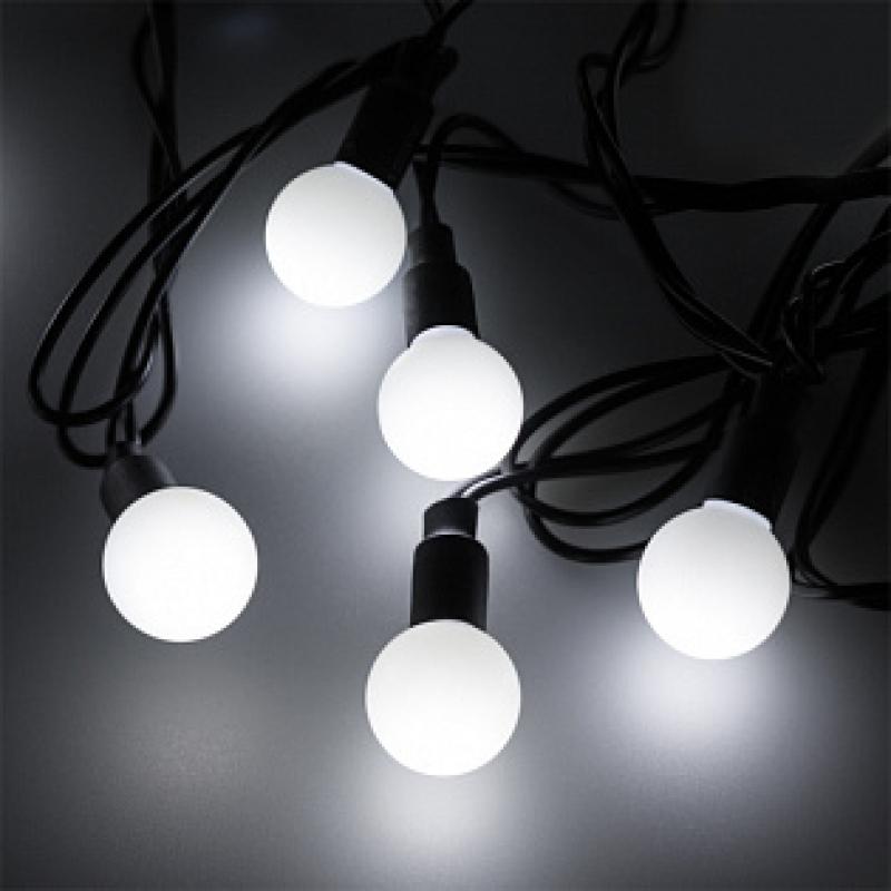 Arlight Светодиодная гирлянда ARD-BALL-CLASSIC-D23-10000-BLACK-80LED WHITE (230V, 3.5W)