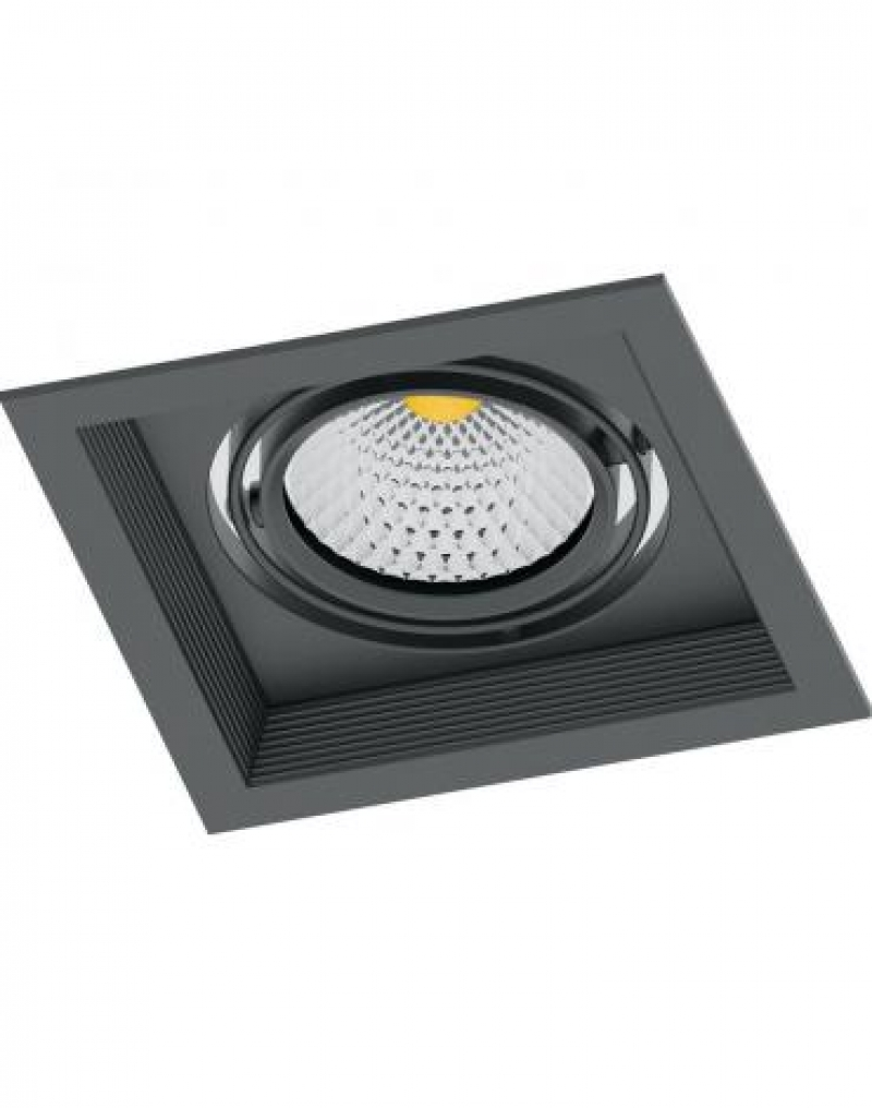 Светодиодный светильник Feron AL201 карданный 1x20W 4000K 35 градусов ,черный