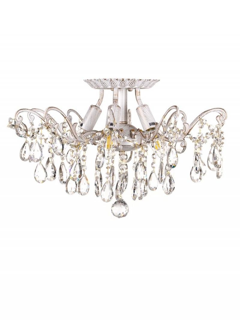 Светильник потолочный Brilliant Тип ламп E14 5*60W материал: металл,хрусталь D495*310