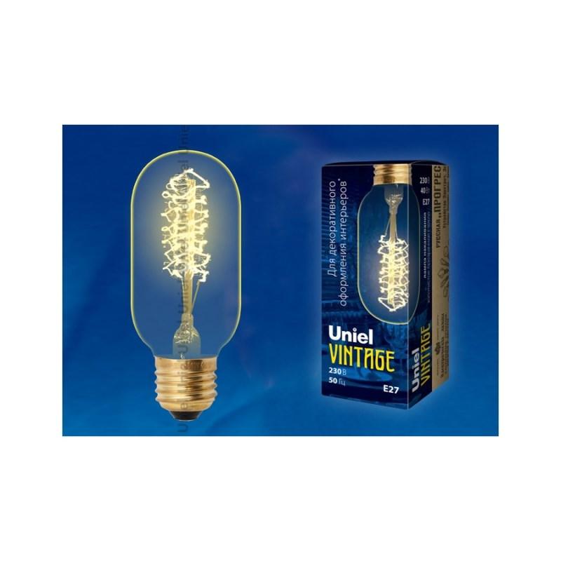 Лампа накаливания Uniel Vintage IL-V-L45A-40/GOLDEN/E27