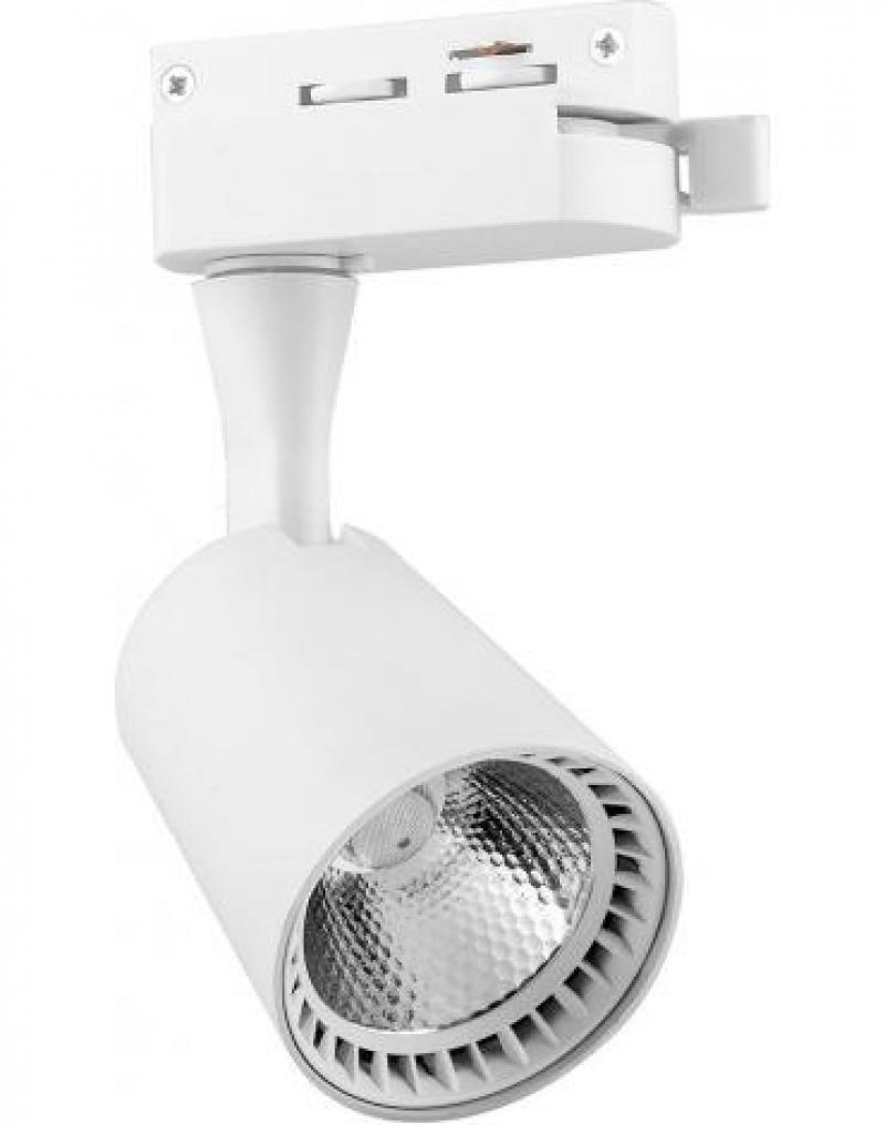 Светодиодный трековый светильник Feron AL100 на шинопровод 12W 2700K 35 градусов 1080 Лм  белый