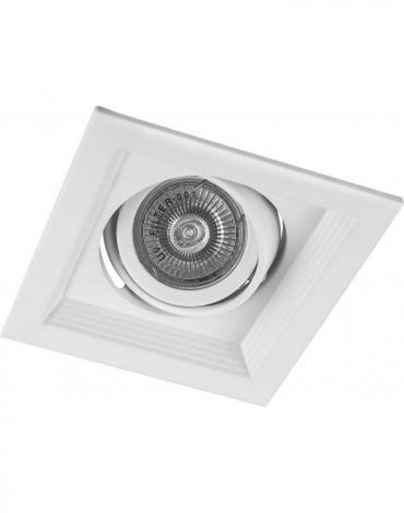 Светильник встраиваемый Feron DLT201 потолочный MR16 G5.3 белый