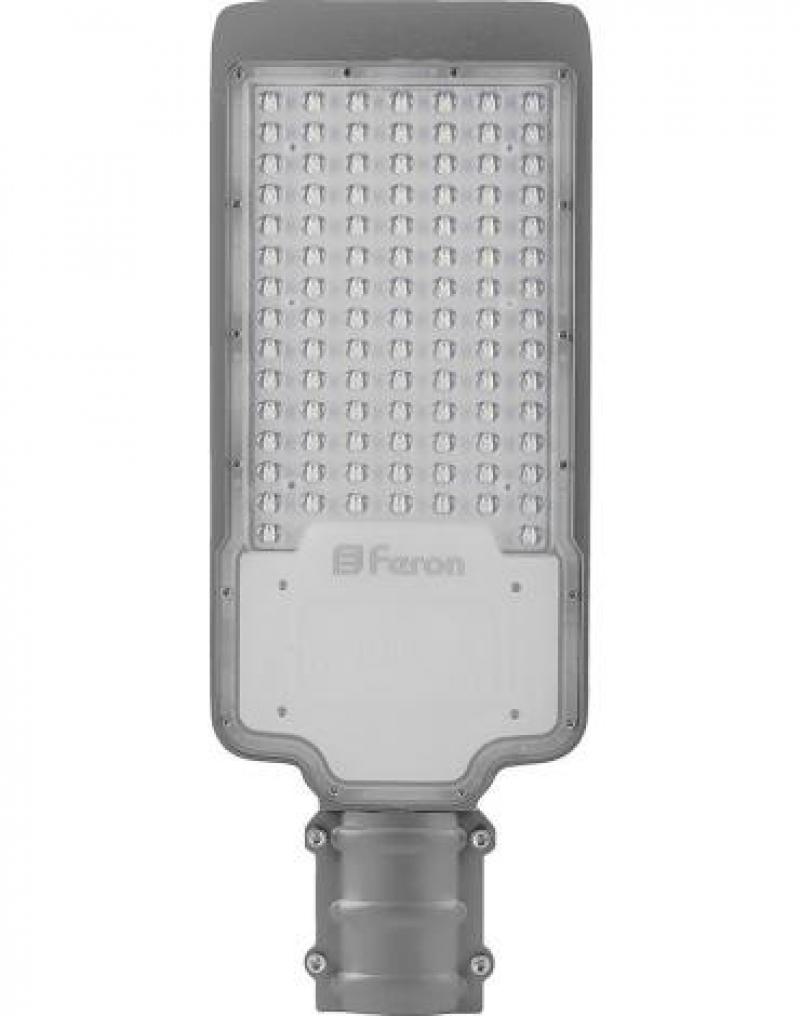 Светодиодный уличный консольный светильник Feron SP2918 120W 6400K AC100-265V, серый
