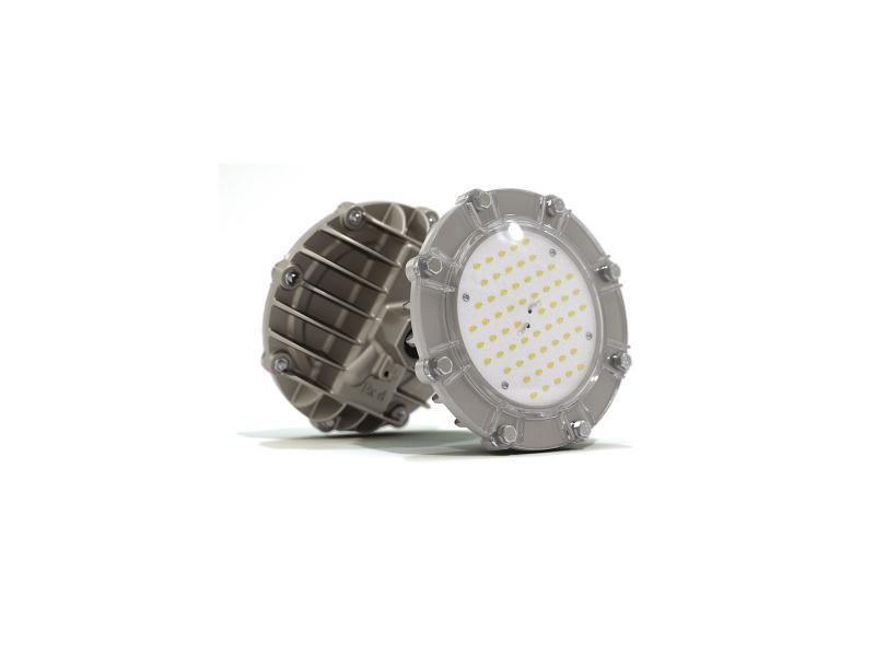 Светильник взрывозащищенный светодиодный АТ-ДСП-33/30-220VAC-IP67-EX серия Арсенал (28 Вт, белый (4500-5000К), 3550Лм,cos ϕ 0,95, угол 1/2 яркости светодиода 120°, 220В, IP67 , КСС Д, крепление на трубу 3/4')