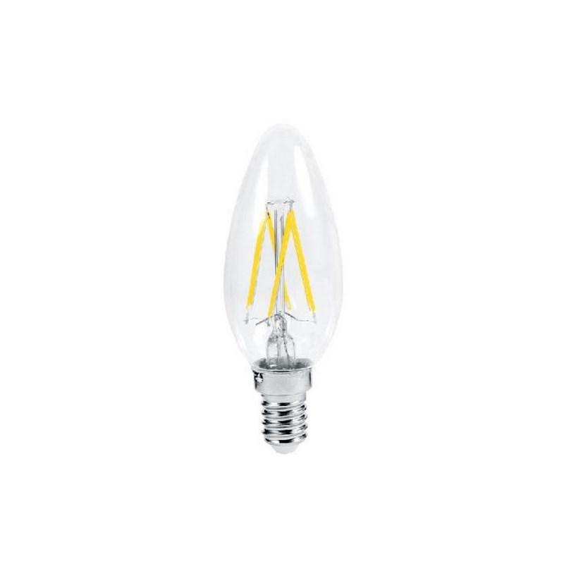 Лампа светодиодная LED-СВЕЧА-deco 5W 230В Е14 3000К 450Lm прозрачная IN HOME
