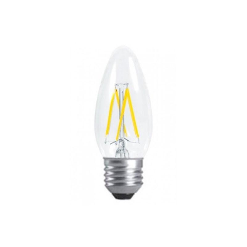Лампа светодиодная LED-СВЕЧА-deco 5W 230В Е27 4000К 450Lm прозрачная IN HOME