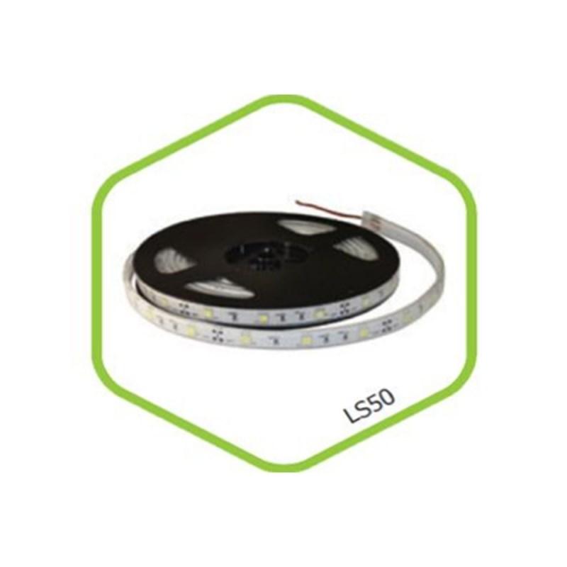 Лента светодиодная LS 50W-30/65 30LED 7.2Вт/м 12В IP65 белая