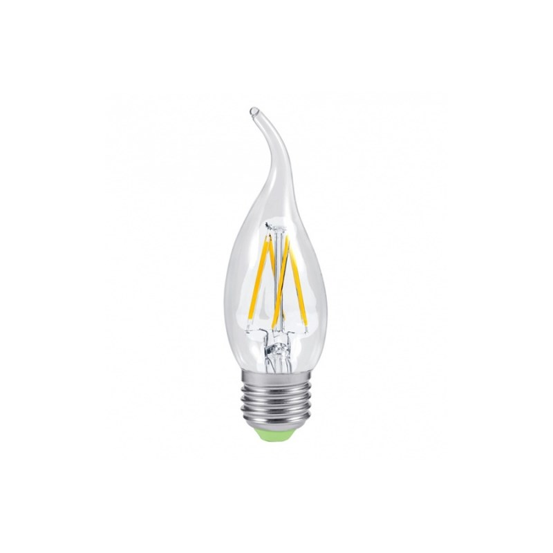 Лампа светодиодная LED-СВЕЧА НА ВЕТРУ-PREMIUM 5W 230В Е27 3000К 450Lm прозрачная ASD