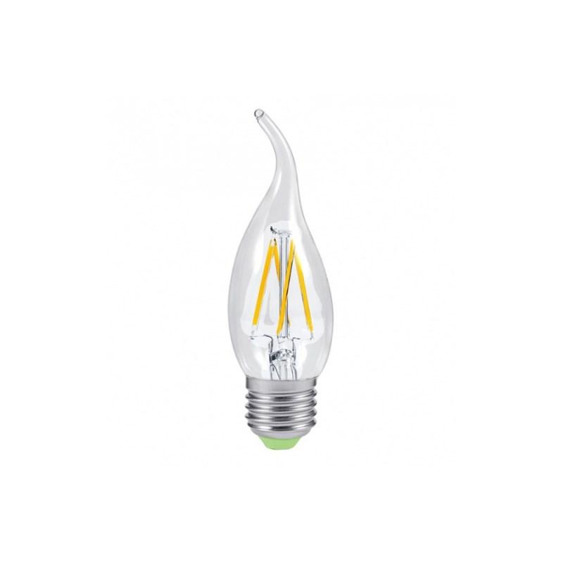 Лампа светодиодная LED-СВЕЧА НА ВЕТРУ-PREMIUM 5W 230В Е27 4000К 450Lm прозрачная ASD