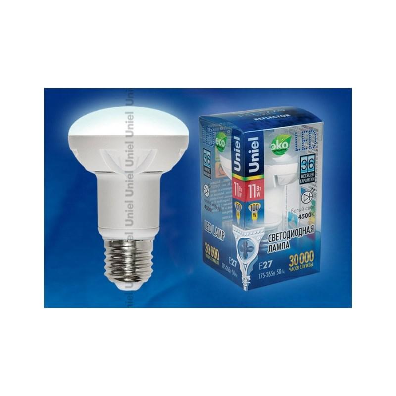 Светодиодная лампа рефлектор Uniel Palazzo LED-R63-11W/NW/E27/FR ALP01WH