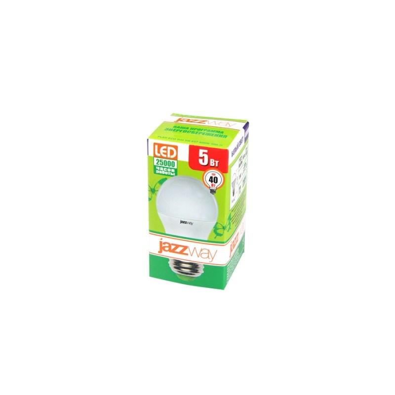 Лампа светодиодная шарик PLED-ECO-G45 5w Е27 4000K 220в Jazzway