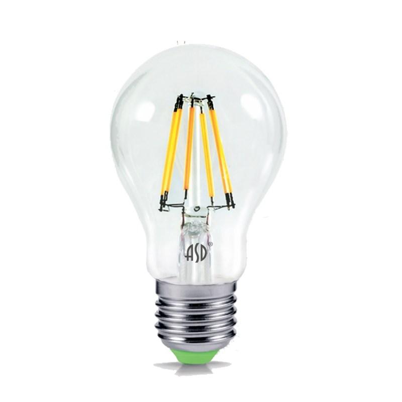 Лампа светодиодная LED-A60-deco 9W 230В Е27 4000К 810Lm прозрачная IN HOME