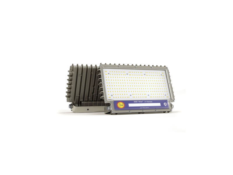 Светильник взрывозащищенный светодиодный АТ-ДОК-12/80-220VAC-IP67-EX серия Star(80Вт, белый (5000К), 10800Лм,OSRAM Duris S5, 220В, IP67, КСС К20°)