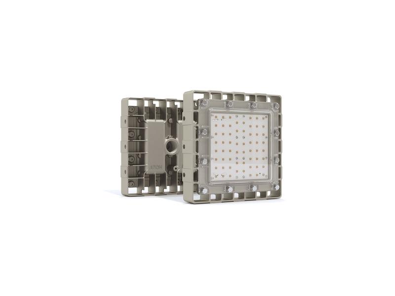Светильник взрывозащищенный светодиодный АТ-ДСП-10/65-220VAC-IP67-EX-К45 серия Арсенал-М (60Вт, белый (4500-5000К), cos ϕ 0,95, 8700Лм, 220В, IP67, КСС К45°, крепление на трубу 3/4')