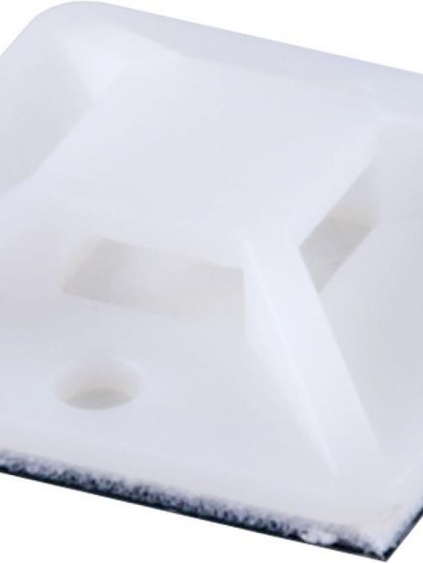 Площадка самоклеющаяся STEKKER WMCL2525 25*25 мм под хомуты белый