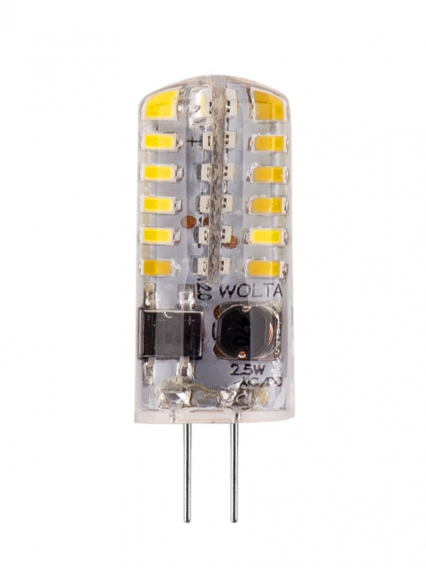 Лампа LED WOLTA JC 2.5Вт 200Лм G4 12V AC/DC 3000K 1/5/100/1000