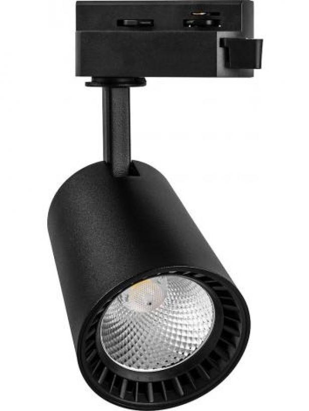 Светодиодный трековый светильник Feron AL100 на шинопровод 12W 2700K 35 градусов 1080 Лм  черный