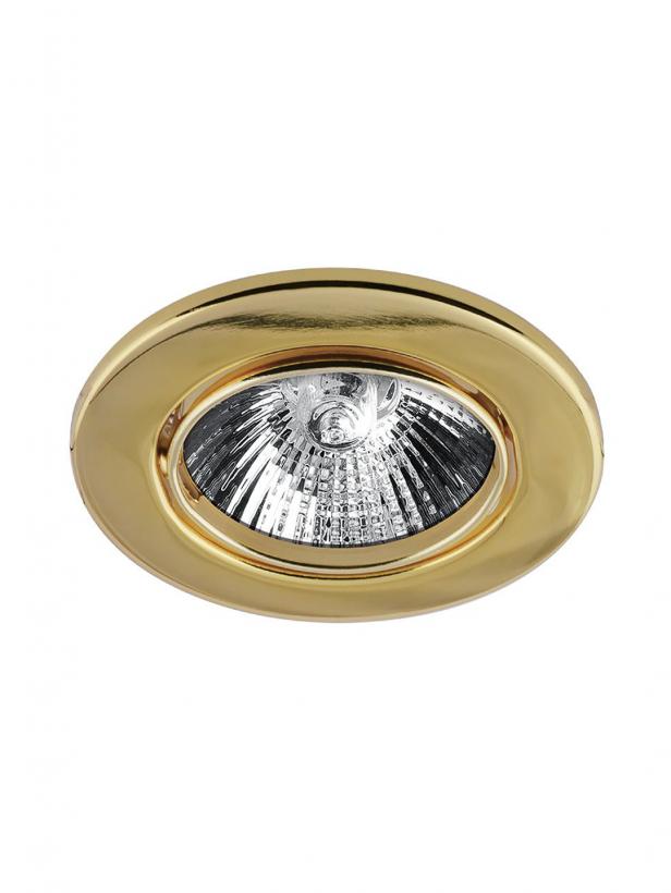 Светильник встраиваемый MR16 GU5.3 золото 35x90MM
