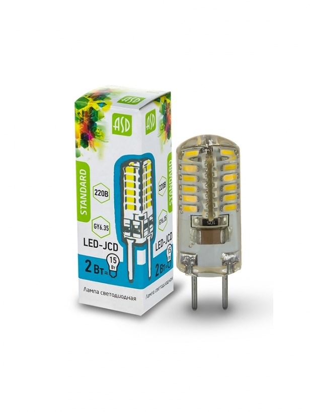 Лампа светодиодная LED-JCD-standard 2Вт 230В GY6,35 4000К 180Лм ASD