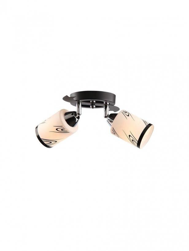 Светильник потолочный Tuluza Тип ламп E14*60W*2 материал: металл, стекло L200*W140*H170