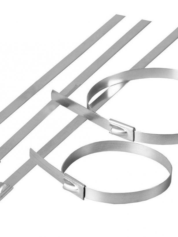 Хомут стальной STEKKER SSCTE79-400 7.9х400мм, d пучка max 114мм, нагрузка 120кг, серый, упаковка 25 шт