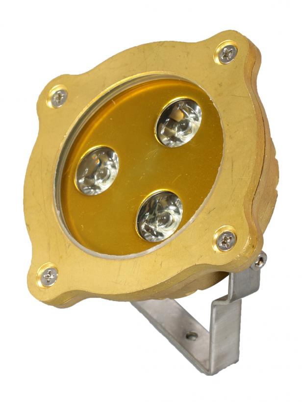 Светодиодный подводный накладной светильник SLW-06 3W DC/12V IP68 синий/красный (Низковольтный)
