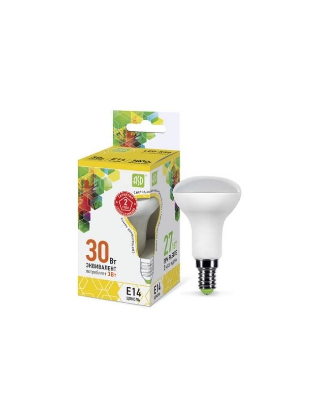 Лампа светодиодная LED-R50-standard 3Вт 230В Е14 3000К 270Лм ASD