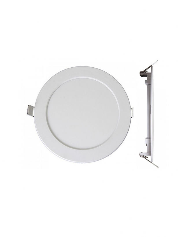 Светильник LED PPL-R 12Вт 1000Лм 6500K IP40 бел d170мм встр/кр Jazzway .5008564A