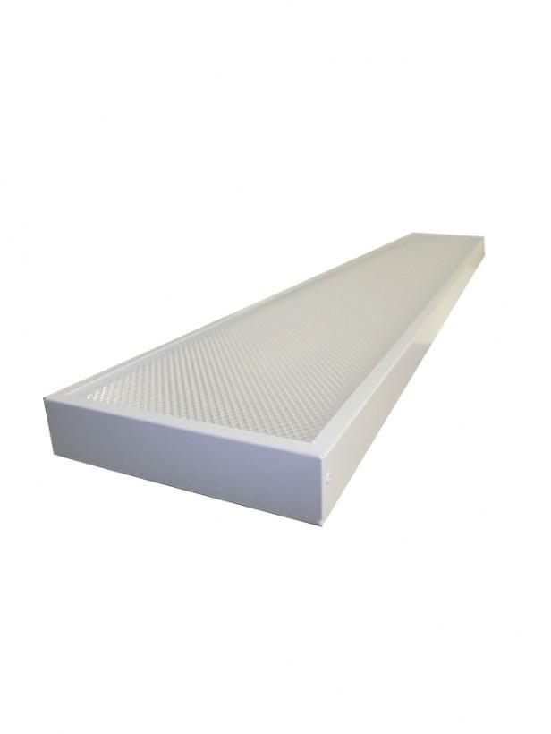 Офисный светодиодный светильник STELLAR OFFICE-LONG 30 W встраиваемый/накладной 3680Lm 5000K 1200х180x40 mm Колотый лед