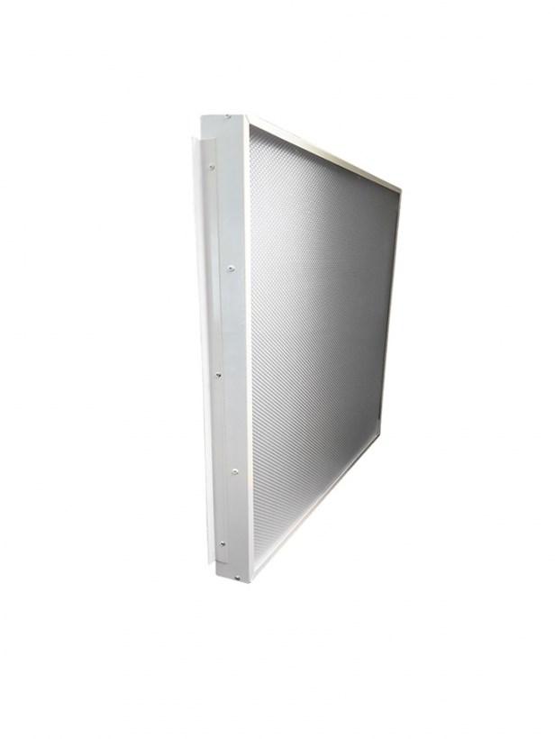 Офисный светодиодный светильник Грильято STELLAR 27 W встраиваемый/накладной 3150 Lm 4000K 588x588x40 mm Колотый лед