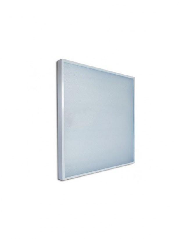 Офисный светодиодный светильник Армстронг STELLAR 24 W встраиваемый/накладной 2730 Lm 4000K 595x595x40 mm Колотый лед