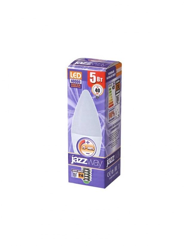Диммируемые светодиодные лампы Jazzway PLED-DIM C37 5W 6500K 400 Lm E14 230/50