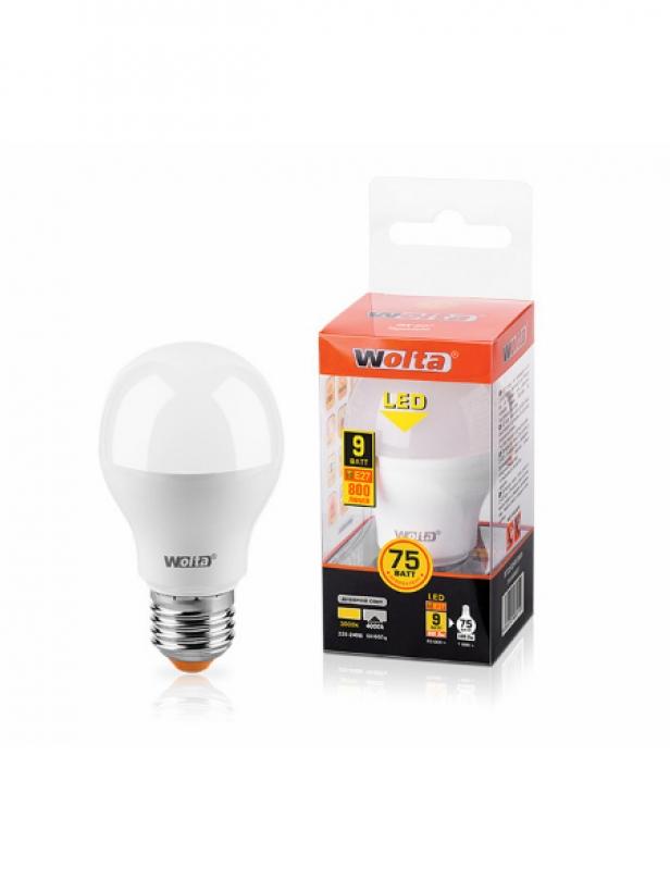 Лампа светодиодная 25S55BL9E27 9W 230В Е27 4000К 800Lm Wolta