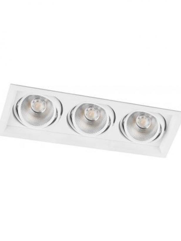 Светодиодный светильник Feron AL203 карданный 3x12W 4000K 35 градусов ,белый