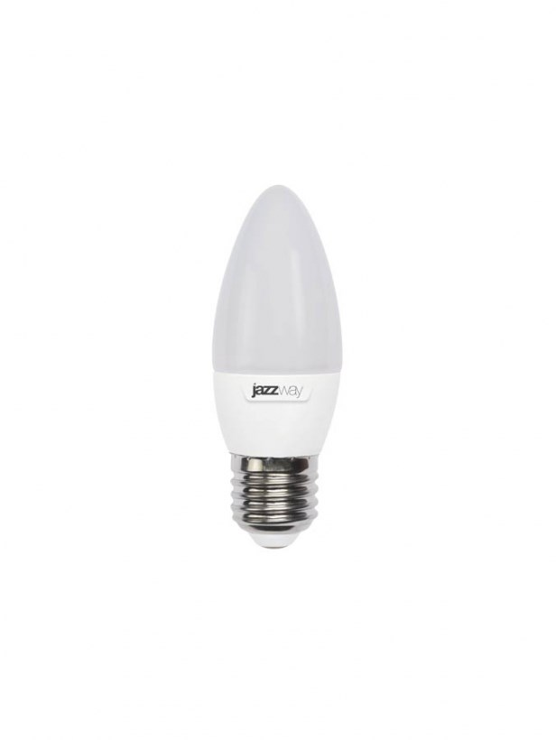 Светодиодная лампа Jazzway PLED-ECO-C37P 5W E27 2700K свеча